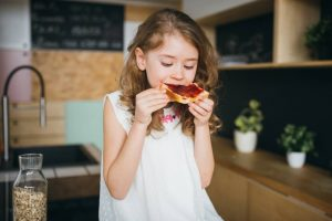 Child eating gluten