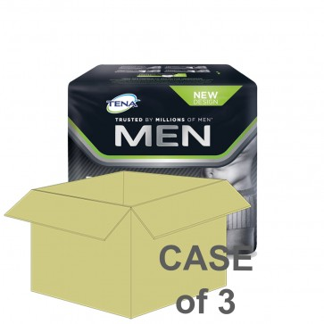 CASE SAVER Tena Men Premium Fit L4 Large (3 Packs of 8)