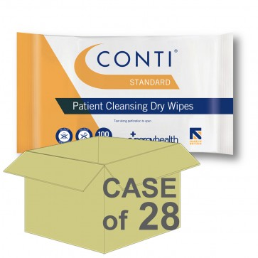 CASE SAVER Conti Standard Patient Dry Wipes CBW110 (28 Packs of 100)
