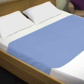 Incontinence Double Bed Bed Pad With Wings Blue