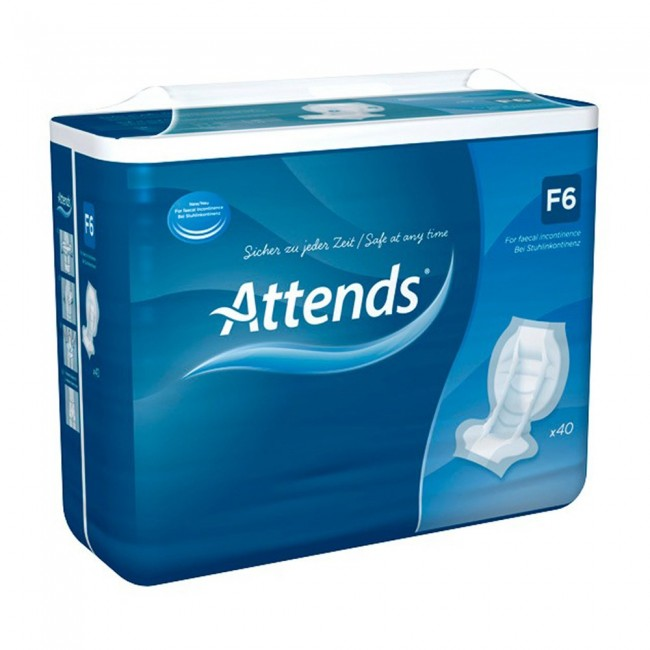 Attends Faecal Pad Pack Of 40 Incontinence Supermarket