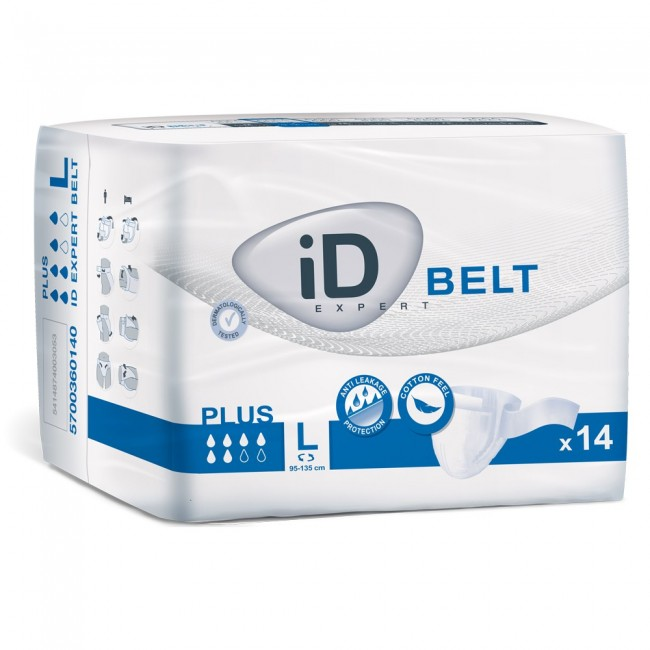 Id Expert Belt Plus Large Pack Of 14 Incontinence