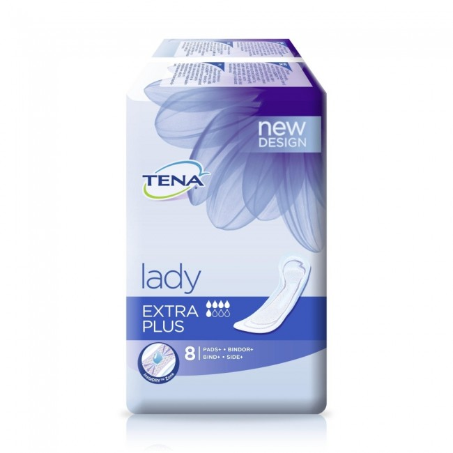 tena lady extra plus pack of 8 incontinence supermarket. Black Bedroom Furniture Sets. Home Design Ideas