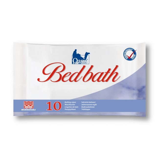 Oasis Bed Bath Unscented Moist Wipe 33x22cm Pack of 3