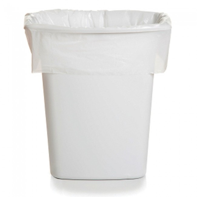 White Pedal Bin Liners 27x43x45cm Pack Of 100