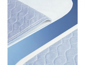 Washable Bed Pad with Wings - Blue - Single - Double - Double