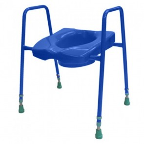 Blue Toilet Riser with Handles