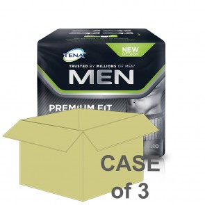 CASE SAVER Tena Men Premium Fit L4 Medium (3 Packs of 10)