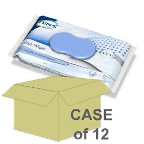 CASE SAVER Tena Wet Wipe 32x20cm (12 Packs of 48)