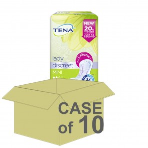 CASE SAVER Tena Lady Discreet Mini (10 Packs of 20)