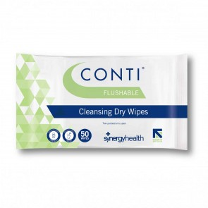Conti® Flushable Skin Cleansing Dry Wipes - CFW050