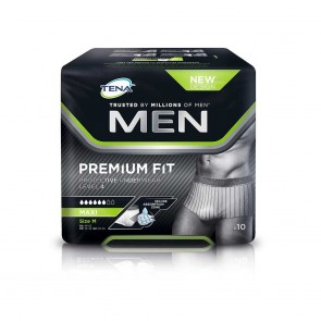 TENA Men Premium Fit L4 Medium | 600mls | Pack of 10