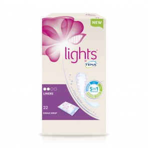 Tena Lights Liners Individually Wrapped 90ml | Pack of 22