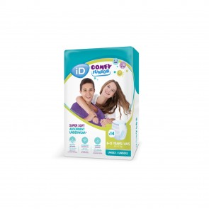 iD Comfy Junior | Age 8-15 | 14 Pack