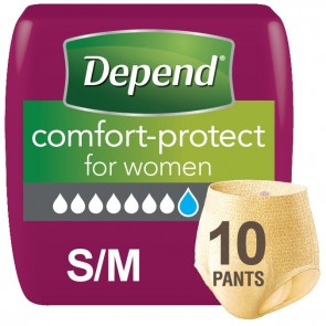 Depend Comfort Protect Pants for Women | Small/Medium | Pack of 10