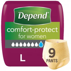 Depend Comfort Protect Pants for Women | Large | Pack of 9