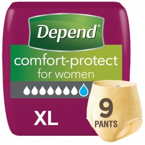 Depend Comfort Protect Pants | X Large | Pack of 9