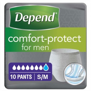Depend Comfort Protect Pants for Men | Small/Medium | Pack of 10