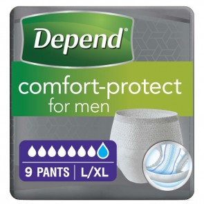 Depend Comfort Protect Pants for Men | Large/X Large | Pack of 9