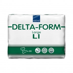Abena Abri Delta-Form L1 Green | Large All In One | Pack of 20