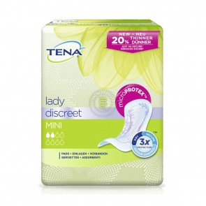 Tena Lady Discreet Mini - Pack Of 20