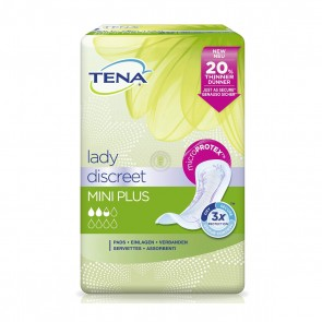 Tena Lady Discreet Mini Plus - Pack Of 16