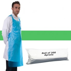 Primacare Disposable Aprons On A Roll Green