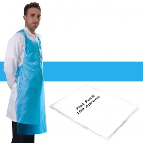 Primacare Disposable Flat Pack Aprons Blue