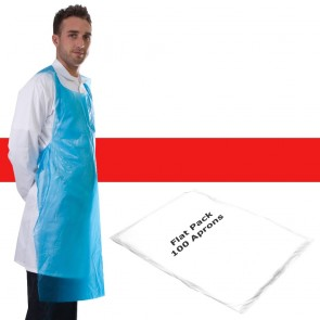 Primacare Disposable Flat Pack Aprons Red
