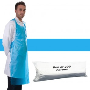 Primacare Disposable Aprons On A Roll Blue