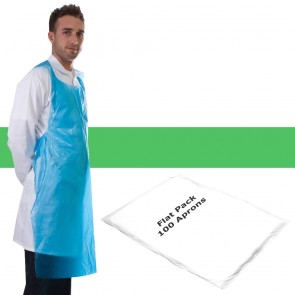 Primacare Disposable Flat Pack Aprons Green