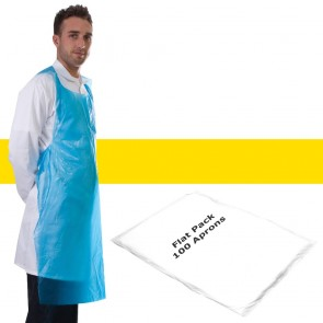Primacare Disposable Flat Pack Aprons Yellow