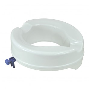 White Raised Toilet Seat 10CM Raise