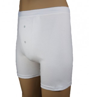 Incontinence Mens Padded Boxer Short | White | 3XLarge