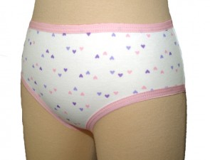 Girls Concealed Padded Pant | 215mls | Hearts Pattern | Age 7-8