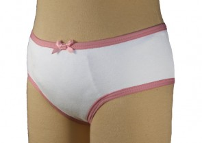Girls Concealed Padded Pant | 215mls | White | Age 3-4