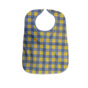 Primacare Re-Usable Bib Yellow & Blue Check  45 x 60 cm Standard  -  Each
