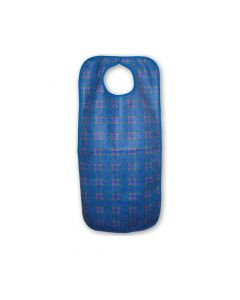 Primacare Re-Usable Bib Blue & Red Check  45 x 90cm Large  -  Each