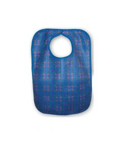 Primacare Re-Usable Bib Blue & Red Check  45 x 60 cm Standard  -  Each