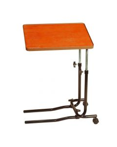 Economical adjustable bed table