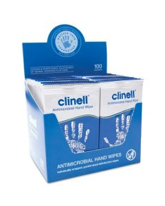 Clinell Antibacterial Hand Wipes | Box of 100