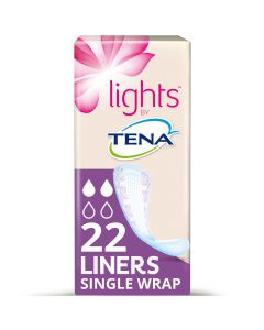 Tena Lights Liners Individually Wrapped 90ml   Pack of 22