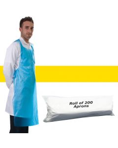 Primacare Disposable Aprons On A Roll Yellow