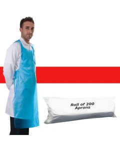 Primacare Disposable Aprons On A Roll Red