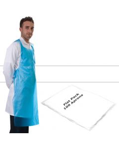 Primacare Disposable Flat Pack Aprons White