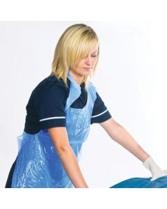 Disposable Aprons On A Roll Blue