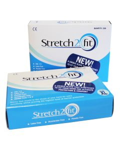 Stretch 2 Fit Gloves X Large   Blue