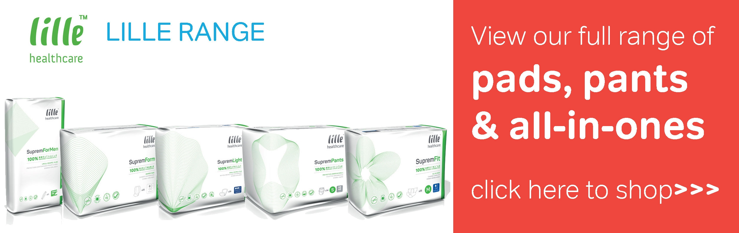 Lille Healthcare Incontinence Range